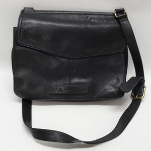Fossil Vintage Black Leather Crossbody #75082